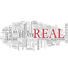 Real word cloud concept vector
