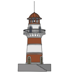 Red lighthouse vector