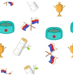 Russia pattern cartoon style vector image vector image