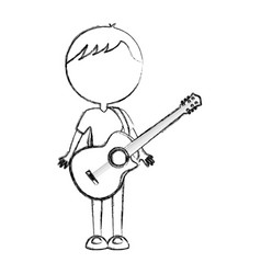 sketch draw body man cartoon vector image