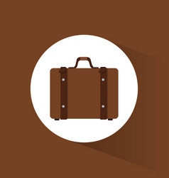 suitcase travel equipment icon vector image vector image