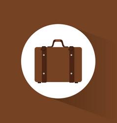 Suitcase travel equipment icon vector