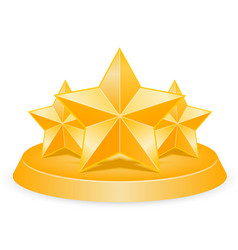 three stars vector image vector image
