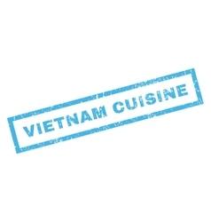 Vietnam cuisine rubber stamp vector