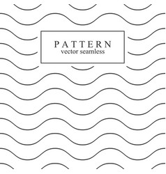 Wave seamless minimalistic pattern vector