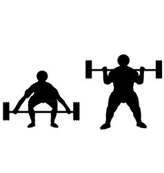 Weight lifter sportsman vector