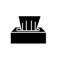 wet wipes icon black sign on vector image