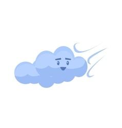 White cloud blown away vector