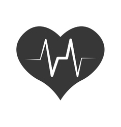 Heart and pulse icon medical and health care vector