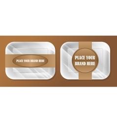 empty white styrofoam plastic food tray vector image