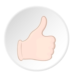 Hand with thumb up icon cartoon style vector image