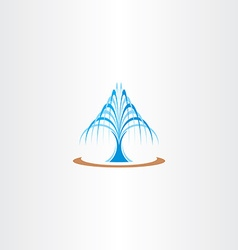 Spring water fountain icon vector
