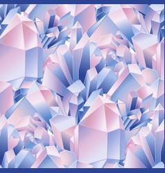 crystals pattern vector image