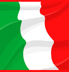 Flag of italy italian national symbol vector