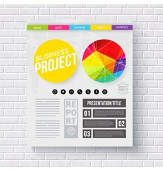 Business report presentation template vector