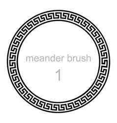 ancient greek ornament meander vector image
