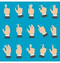 Multitouch gestures for tablet or smartphone vector
