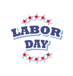 Labor day america logo isolated on white vector
