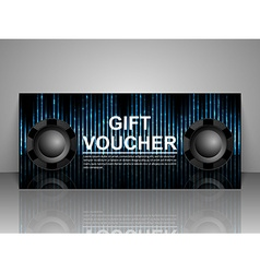 Gift voucher template nightclub party vector