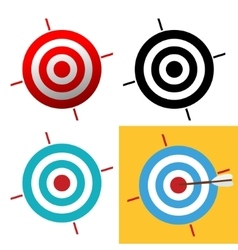 Target icon sign vector