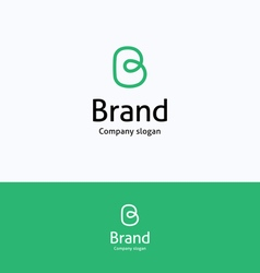 Brand b loop logo vector