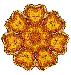 abstract gold mandala vector image vector image