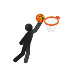 Basketball isometric 3d icon vector image vector image