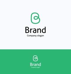 Brand b loop logo vector