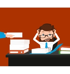 Busy businessman vector image vector image
