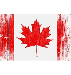 Canadian flag on wood vector