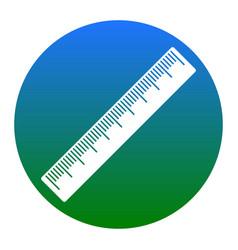 Centimeter ruler sign white icon in vector
