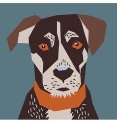 Dog flat head portrait vector image vector image
