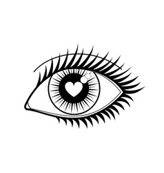 Eye of lover icon vector
