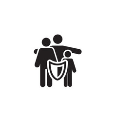 family insurance solutions and services icon vector image