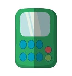 Green calculator class supplies school shadow vector