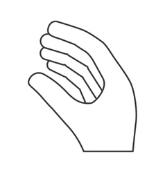 Human hand design isolated figure with fingers vector image