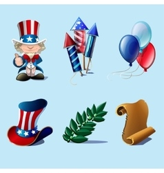 Independence Day design elements collection vector image vector image