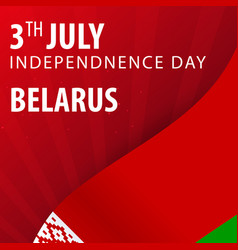 Independence day of belarus flag and patriotic vector