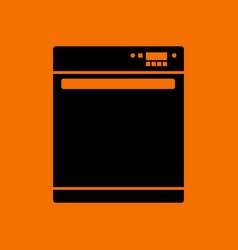 Kitchen dishwasher machine icon vector