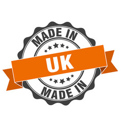 Made in uk round seal vector