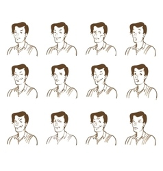Man emotions set vector