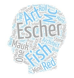 Maurice cornelius escher mc escher text background vector