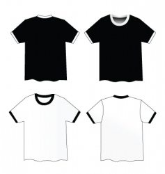 Ribbed shirts vector