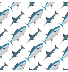 sea tuna fish animal nature food seamless pattern vector image