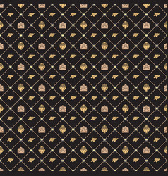 Seamless pattern on valentines day texture for vector