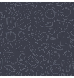 Seamless pattern with cycling attributes vector