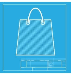 Shopping bag White section of icon vector image