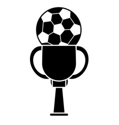 Soccer trophy sport image pictogram vector