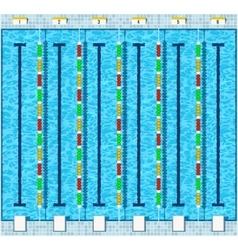 Swimming pool flat vector image
