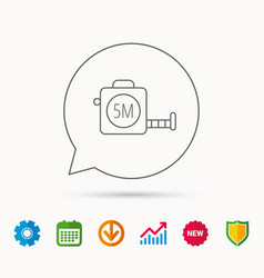 tape measurement icon roll ruler sign vector image
